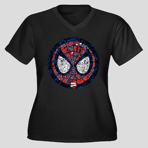 Spiderman Ma Women's Plus Size V-Neck Dark T-Shirt