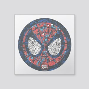 "Spiderman Mask Square Sticker 3"" x 3"""