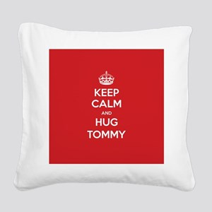 Hug Tommy Square Canvas Pillow