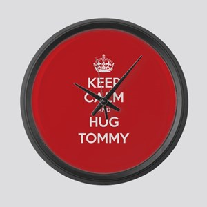 Hug Tommy Large Wall Clock