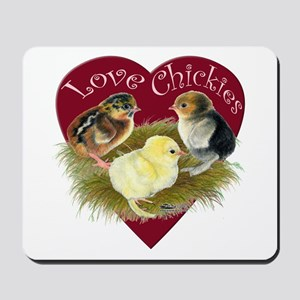 Love Chickies Mousepad