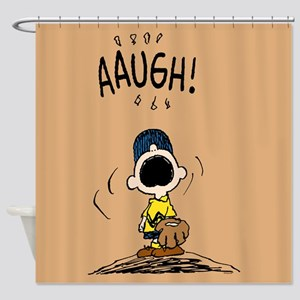 Charlie Brown Baseball Shower Curtain