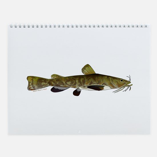 Mississippi River Bottom Fish 2 Wall Calendar