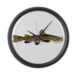 Flathead Catfish Large Wall Clock