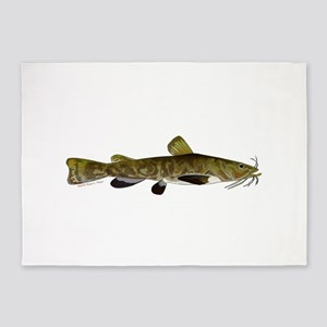 Flathead Catfish 5'x7'Area Rug