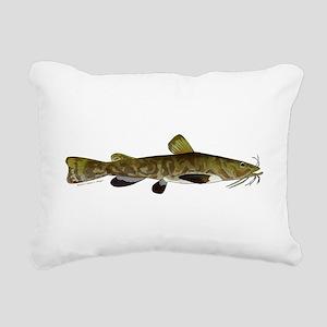 Flathead Catfish Rectangular Canvas Pillow