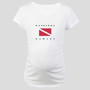 Rangiroa Tahiti Dive Maternity T-Shirt
