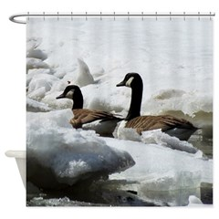 Geese Icebreakers Shower Curtain