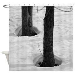 Trees Body Heat Shower Curtain