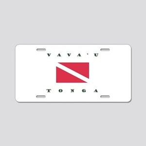 Vavau Tonga Dive Aluminum License Plate
