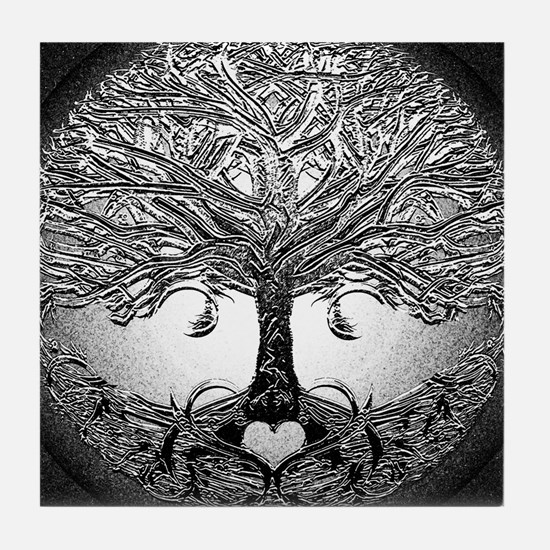 Tree of Life Bova Tile Coaster