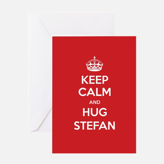 Hug Stefan Greeting Cards