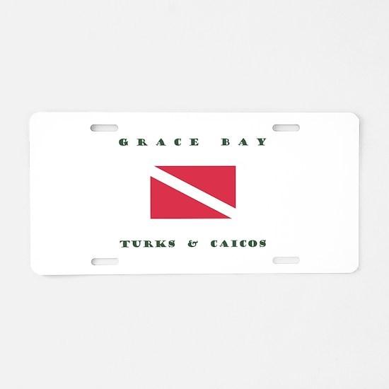 Grace Bay Turks and Caicos Dive Aluminum License P
