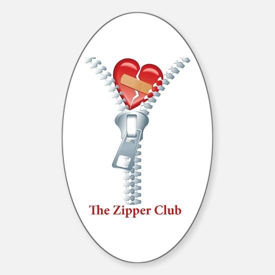 The Zipper Club Sticker (Oval)