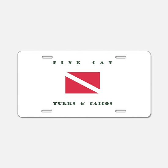 Pine Cay Turks and Caicos Dive Aluminum License Pl