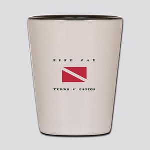 Pine Cay Turks and Caicos Dive Shot Glass