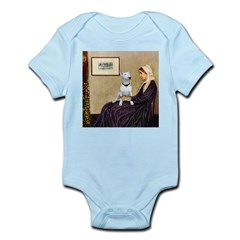 Mom's Bull Terrier (#1) Infant Bodysuit