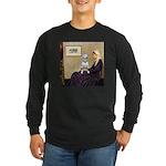 Mom's Bull Terrier (#1) Long Sleeve Dark T-Shirt
