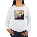 Mom's Bull Terrier (#1) Women's Long Sleeve T-Shir