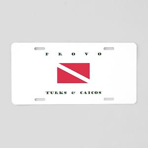 Provo Turks and Caicos Dive Aluminum License Plate