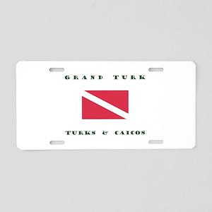 Grand Turk and Caicos Dive Aluminum License Plate