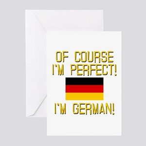 I'm Perfect I'm German Greeting Cards (Pk of 10)