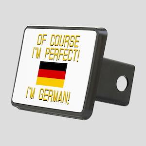 I'm Perfect I'm German Rectangular Hitch Cover