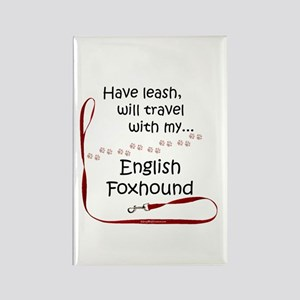 English Foxhound Travel Leash Rectangle Magnet
