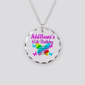 REJOICING 65TH Necklace Circle Charm