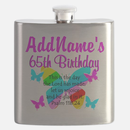 REJOICING 65TH Flask