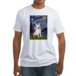 Starry/Bull Terrier (#4) Fitted T-Shirt