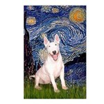 Starry/Bull Terrier (#4) Postcards (Package of 8)