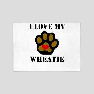 I Love My Wheatie 5'x7'Area Rug
