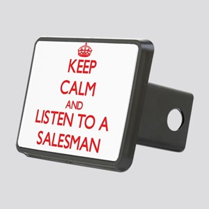 Keep Calm and Listen to a Salesman Hitch Cover