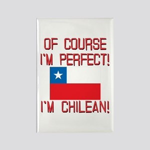 Of Course Im Perfect Im Chilean Rectangle Magnet