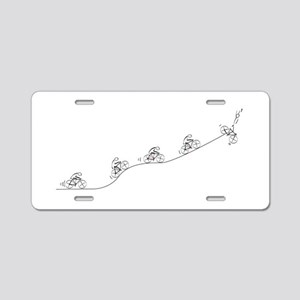 Over The Hill Cyclist Aluminum License Plate