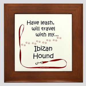 Ibizan Hound Travel Leash Framed Tile