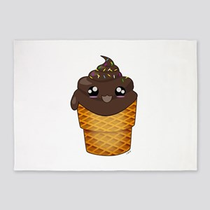 Chocolate kawaii Ice Cream Cone with sprinkles 5'x