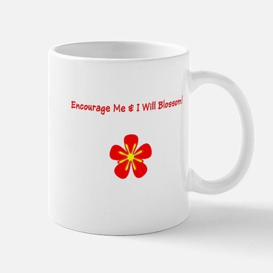 Autism Encourage Me I Will Blossom! Mugs