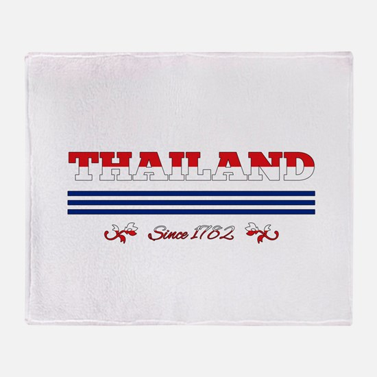 Thailand since 1782 Throw Blanket