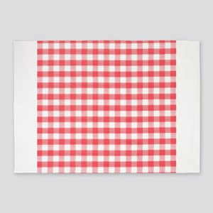 Red Gingham 5'x7'Area Rug