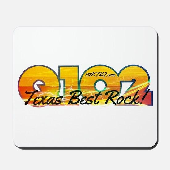 Q102 Texas Best Rock! 2014 Mousepad
