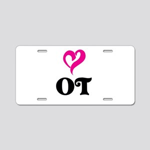 OT LOVE Aluminum License Plate