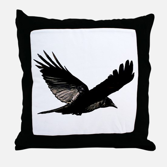 Bird Flying Throw Pillow