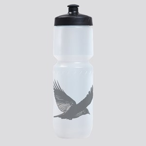 Black Bird Flying Sports Bottle