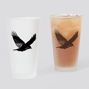 Black Bird Flying Drinking Glass