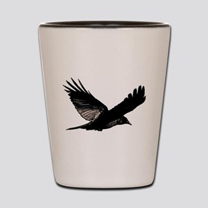 Black Bird Flying Shot Glass