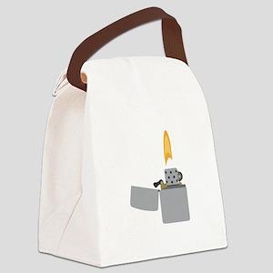 Cigarette Lighter Flame Canvas Lunch Bag