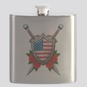 American Shield Flask