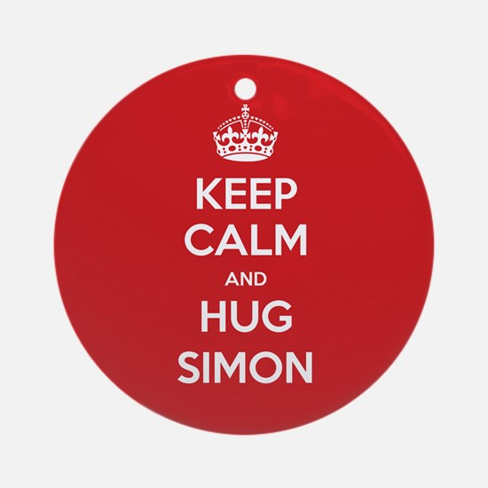 Hug Simon Ornament (Round)